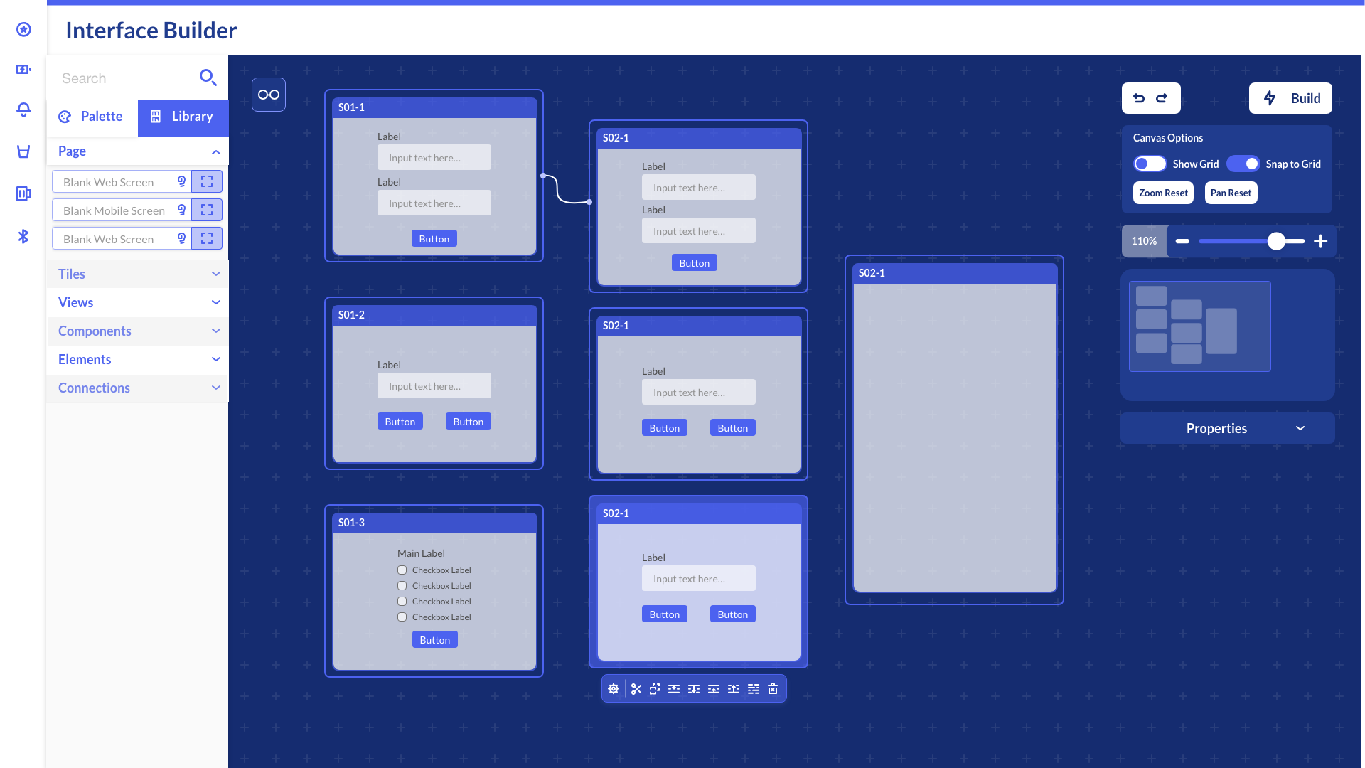 An Iteration of the Interface Builder Design